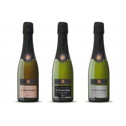Estuche con 3 botellas de champán francés
