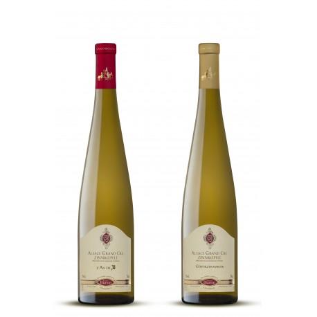 Estuche con 2 botellas de vino de Alsacia
