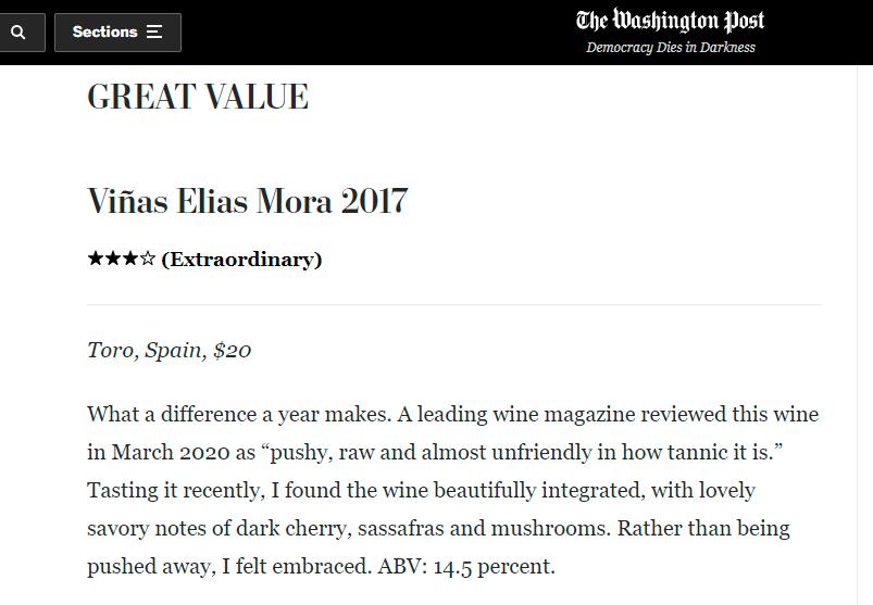 Artículo en inglés del Washington Post que incluye la reseña de Viñas Elias Mora 2017