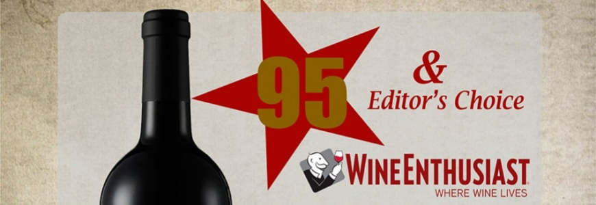 Wine Enthusiast: Editor's Choice et 95 points à Gran Elías Mora 2012